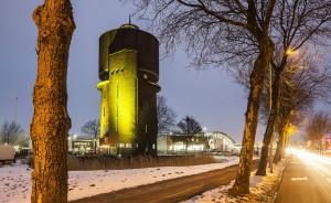 De watertoren, symbool voor het Aktiecomité. Eens bedreigd met sloop, nu rijksmonument. | Foto: David Rozemeyer