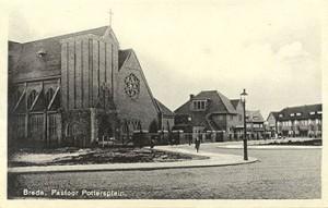 1937 Christus Koningkerk aan het Pastoor Pottersplein | Foto: collectie Stadsarchief Breda